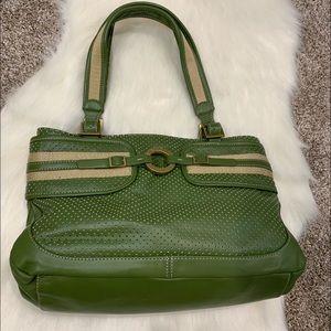 Adrienne Vittadini Green Handbag Leather